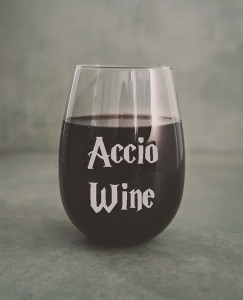 "Harry Potter  ""Accio WIne""szklanka do wina"