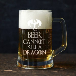 """Beer Cannot Kill a Dragon"" kufel do piwa"