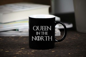 """Queen in the North""ceramiczny kubek do kawy"