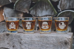 STAR WARS zestaw 4 szklanek do whiskey