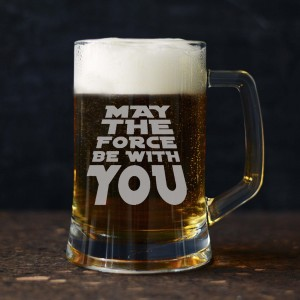 """"" MAY THE FORCE"""" kufel do piwa"