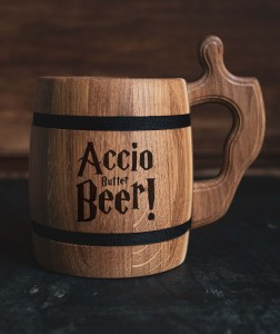 """ACCIO BUTTER BEER"" drewniany kufel do piwa harry potter"