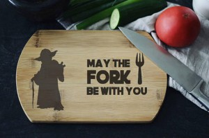 """May the fork be with You"" Star Wars deska do krojenia"