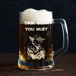 """ DRINK BEER YOU MUST"" kufel do piwa"