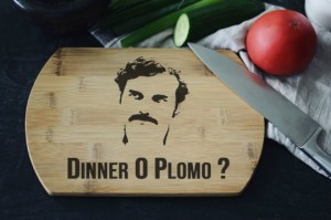 """Dinner o Plomo ""  deska bambusowa do krojenia"